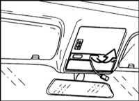 13.33 Снятие и установка электродвигателя сдвижной панели люка крыши