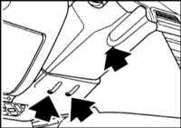 14.31 Снятие и установка выключателя сигналов поворота/ стеклоочистителя