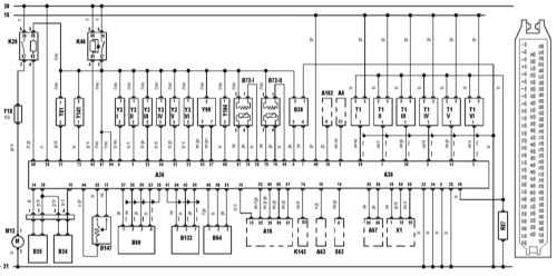 15.29 Система управления двигателем и разъем блока управления. Модели  520i, 523i, 528i