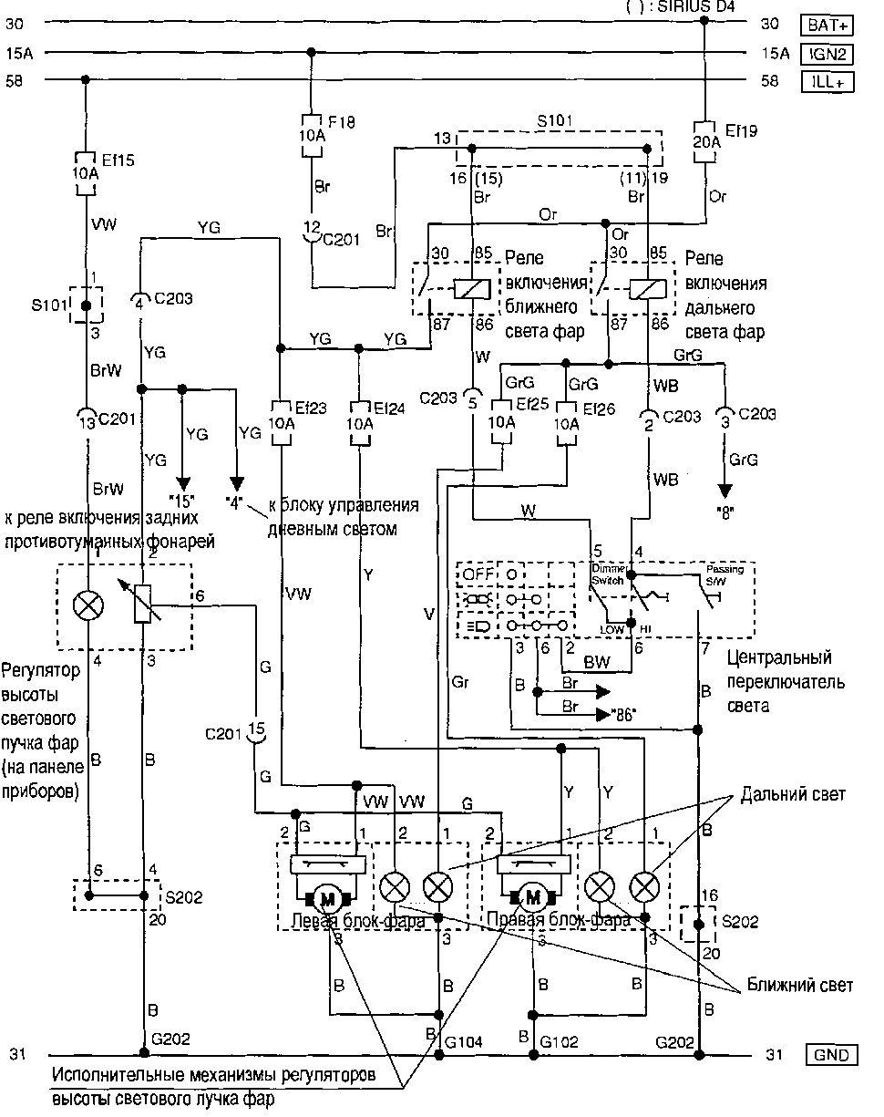 chevrolet aveo 2007 года схема электрики