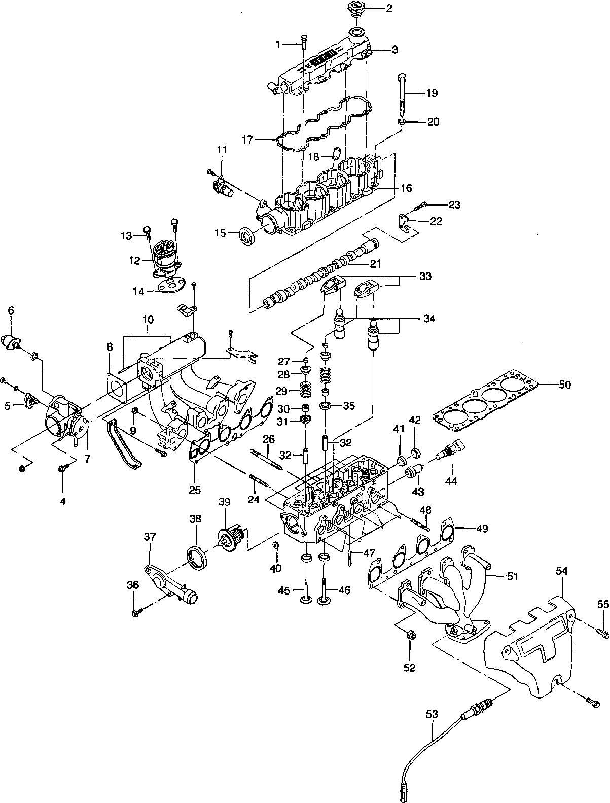 Двигатель шевроле авео 1.2 схема 801