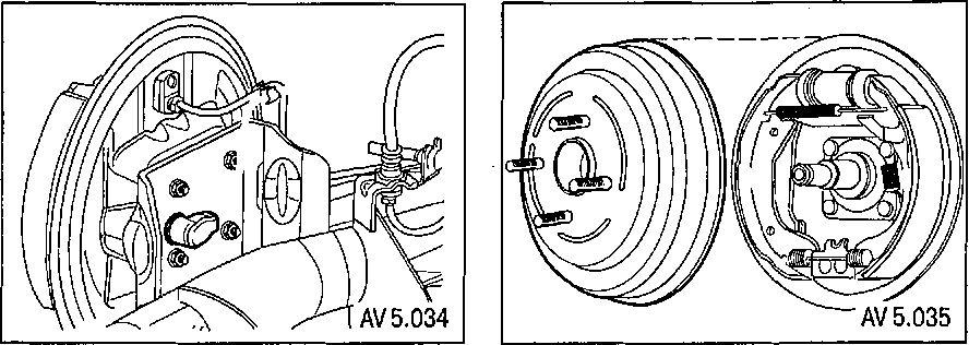 5.3 Снятие и установка задней ступицы с подшипником