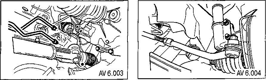 6.1 Снятие и установка рулевого механизма