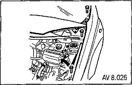 8.1.5 Снятие и установка переднего крыла Chevrolet Aveo