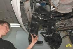4.4 Снятие и установка защиты масляного картера и брызговика двигателя Chevrolet Niva