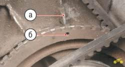 4.9 Установка поршня четвертого цилиндра в положение ВМТ такта сжатия Chevrolet Niva