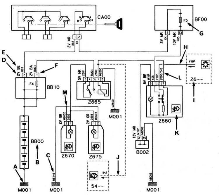 ситроен с4 схема электрооборудования отопитель