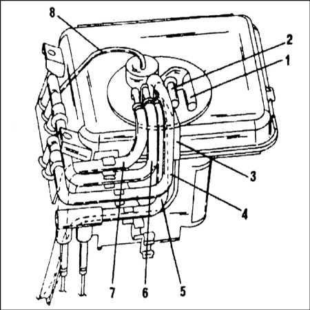 11.5 Резервуар гидравлической жидкости - общие сведения, снятие и установка