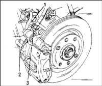 12.3 Замена колодок дисковых тормозных механизмов передних колес
