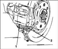 12.4 Замена колодок дисковых тормозных механизмов задних колес