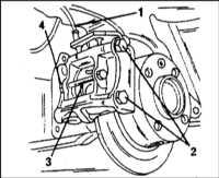 12.7 Снятие, капитальный ремонт и установка суппортов дисковых тормозных Citroen Xantia