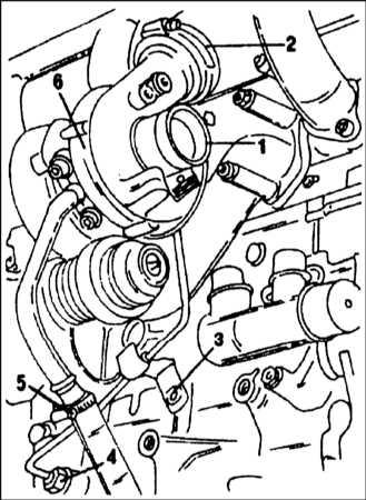 6.2.16 Снятие и установка турбокомпрессора