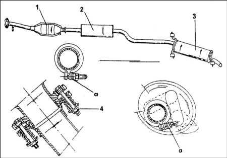 6.3.3 Система выпуска отработавших газов - общая информация, снятие и установка