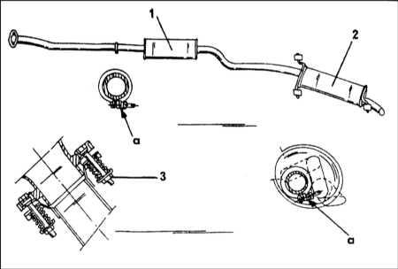 6.3.3 Система выпуска отработавших газов - общая информация, снятие и установка Citroen Xantia