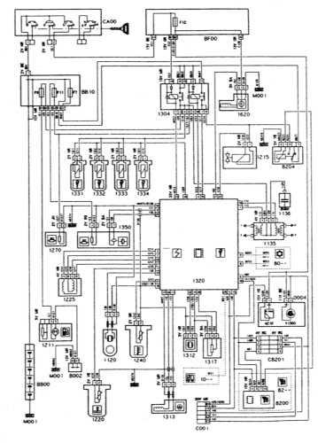 16.7 Системы впрыска и зажигания - двигатель XU10J2C/Z, MAGNETI MARELLI 8P