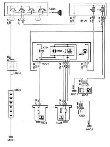 16.28  Система контроля за температурой и уровнем охлаждающей жидкости/попаданием   воды в топливо (дизельные модели с турбонаддувом)