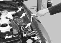 11.6 Снятие и установка переднего крыла Daewoo Lanos