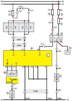 19.3 Схема 2б. Система управления двигателем (продолжение)