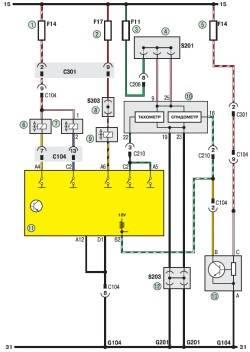 19.5 Схема 2г. Система управления двигателем (продолжение)