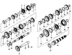 4.2.7 Разборка и сборка ряда узлов коробки передач
