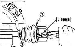 4.3.5 Ремонт внутреннего шарнира вала привода