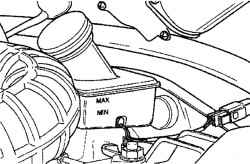 2.10.6 Проверка уровня тормозной жидкости Daewoo Matiz
