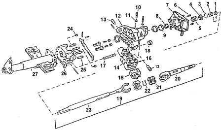 13.39 Рычажной выключатель, рулевой вал, рулевая колонка   (регулируемая)