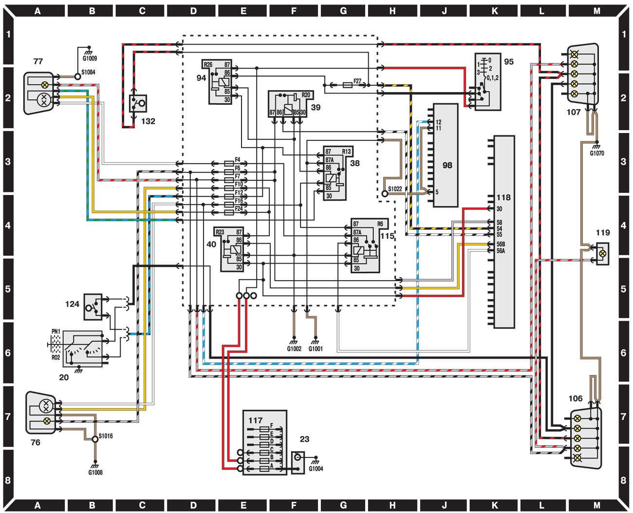 Схема подключения заднего стеклоподъемника