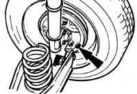 2.3.11 Проверка задних тормозных колодок