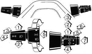 1.14 Рычаги управления на рулевой колонке Ford Escort