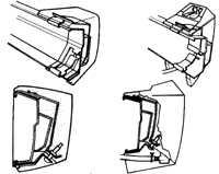 13.4 Передний бампер Ford Escort