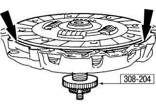 8.6 Замена сцепления в случае, когда на автомобиле установлена коробка передач iB5