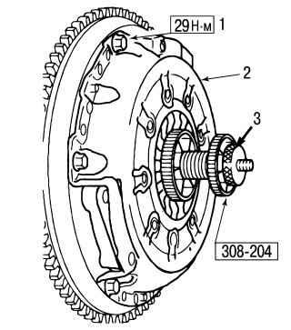 8.6 Замена сцепления в случае, когда на автомобиле установлена коробка передач iB5 Ford Focus