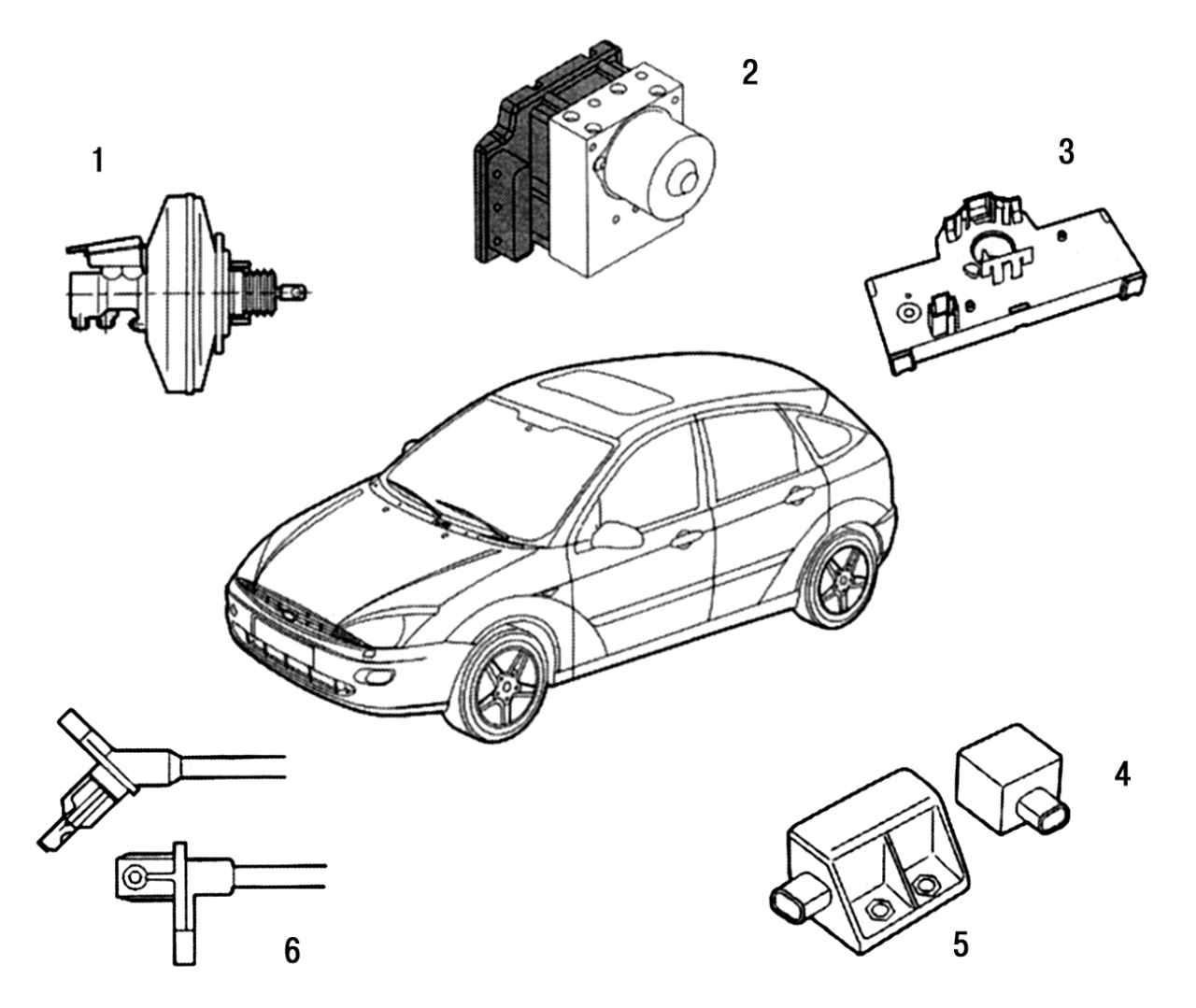 Форд фокус 1 датчик скорости