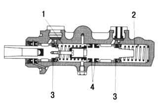 14.7 Замена питающего бачка с главного тормозного цилиндра