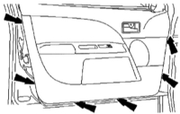 15.16 Демонтаж обивки двери спереди Ford Mondeo