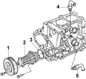 4.6 Насос системы охлаждения Ford Scorpio