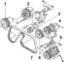 4.8 Приводной ремень двигателя DOHC Ford Scorpio
