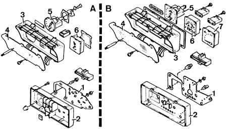 12.8 Снятие и установка комбинации приборов