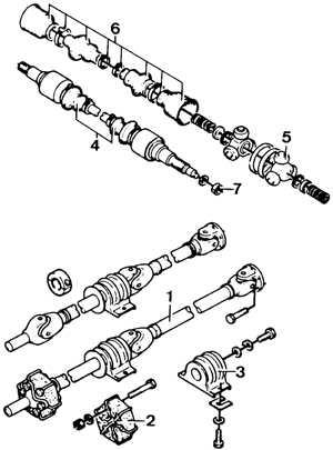 7.2 Снятие и установка карданного вала