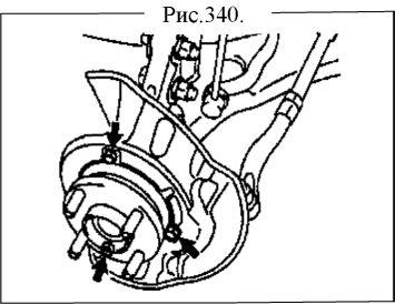 5.  Болт передней левой ступицы. Замена