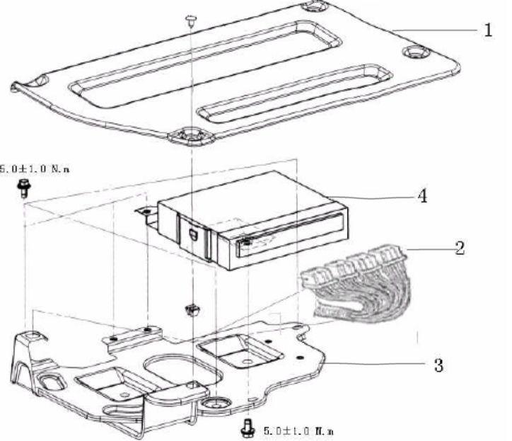 11В.6. Электронный блок управления двигателем и автоматической коробкой переключения передач.