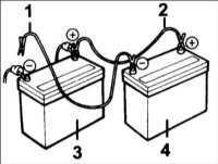 1.72 Пуск двигателя от аккумуляторнойбатареи другого автомобиля