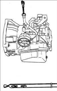 9.2.7 Проверка уровня жидкости в автоматической коробке передач