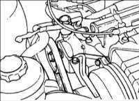 12.13 Проверка натяжения ремня привода насоса усилителя рулевого управления Hyundai Accent