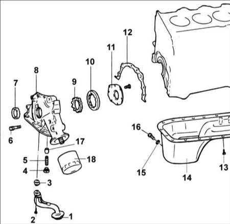 3.8 Масляный насос двигателя DOHC