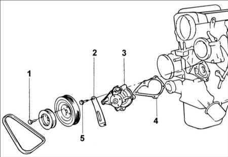 4.7 Водяной насос двигателя DOHC