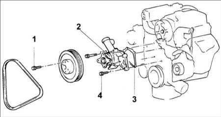 4.6 Водяной насос двигателя SOHC