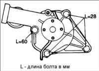 4.6 Водяной насос двигателя SOHC Hyundai Accent