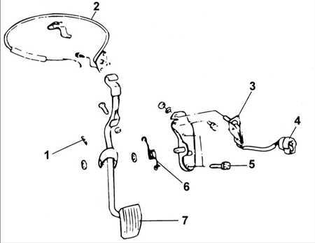 6.24 Трос и педаль акселератора